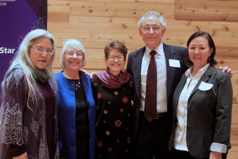 From left to right, Dean Eddie Uehera, Rep. Ruth Kagi, Laurie Lippold Ben deHaan, Emiko Tajima
